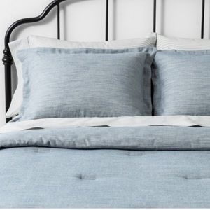 Hearth & Hand Bedding - hearth & hand magnolia blue TWILL COMFORTER SET